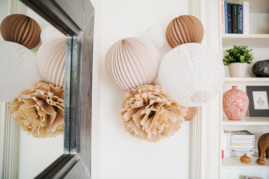 Comment accrocher nos lampions sous le lampion - Comment accrocher une lampe au plafond ...