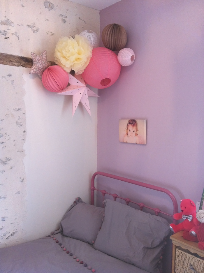 D co douce pour petite fille sage sous le lampion for Decoration 1 an fille