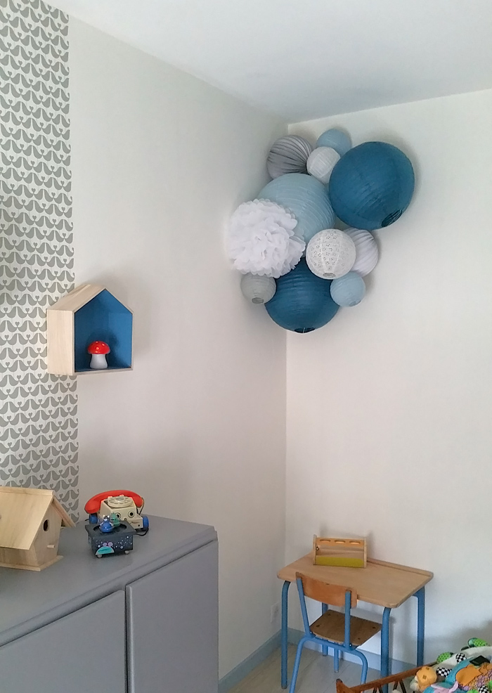 Blue palette boy's playroom