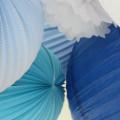 Ciel de lampions bleu et blanc