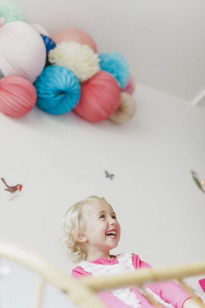 paper lanterns in kids nursery
