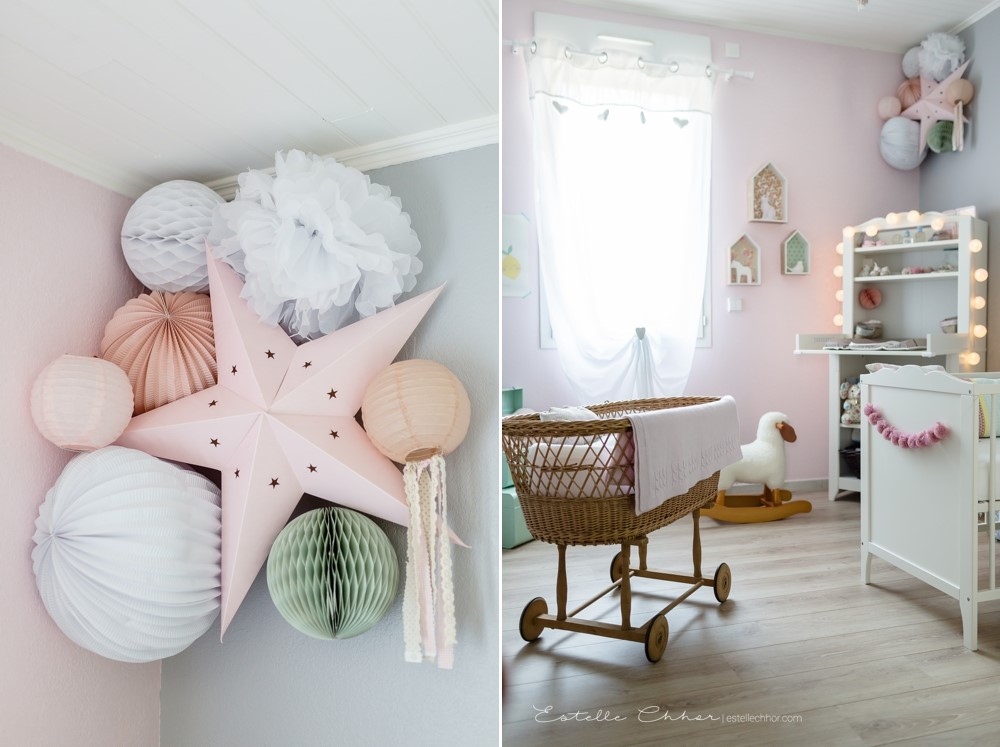 Sweet decor for a babygirl nursery – Sous Le Lampion / Lantern and ...