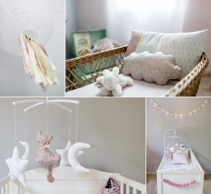 ... decor for a babygirl nursery – Sous Le Lampion / Lantern and Lampion