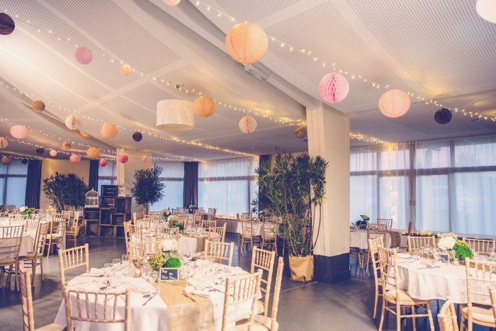 wedding decor with paper lanterns