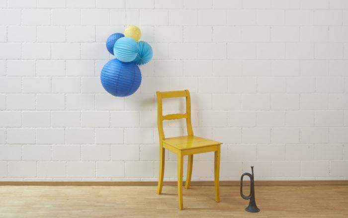 Kit de lampions bleus et jaunes, déco de chambre d'enfant